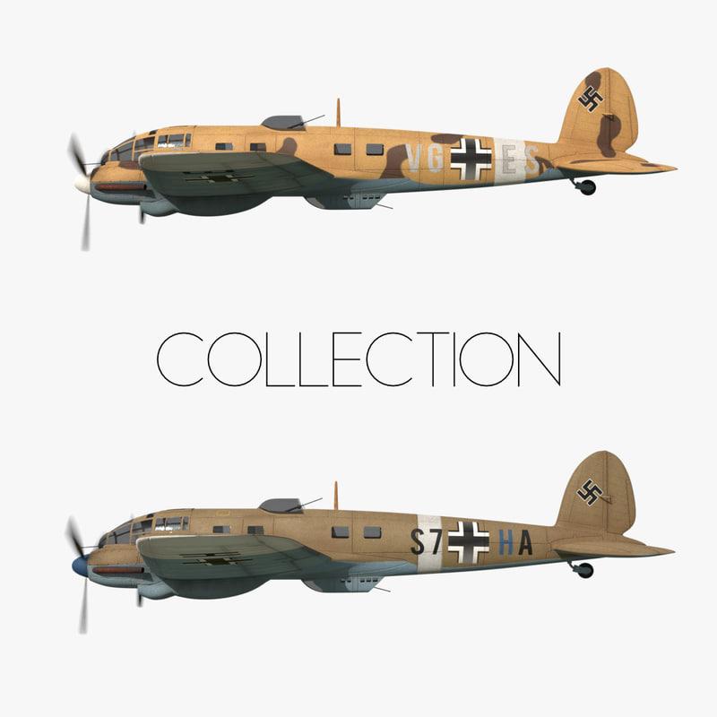heinkel 111 transport north 3D model