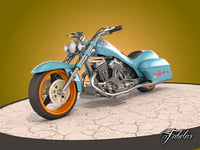 motorcycle mentalray 3D model