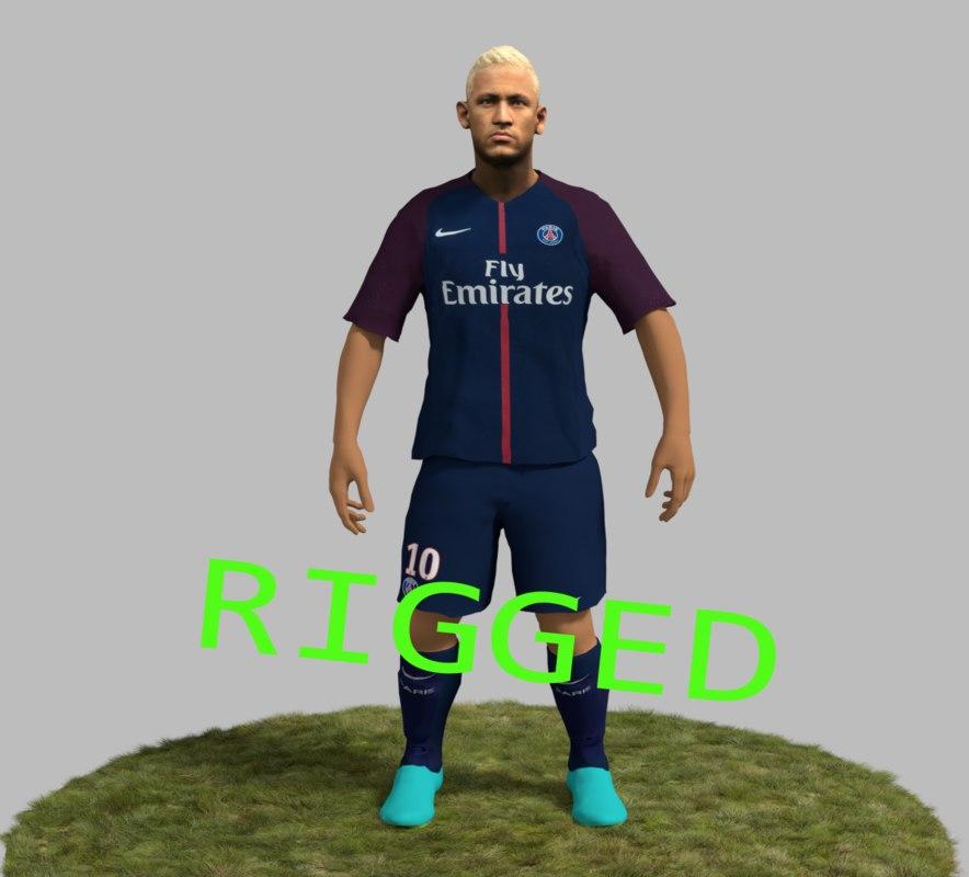 3D neymar sports psg