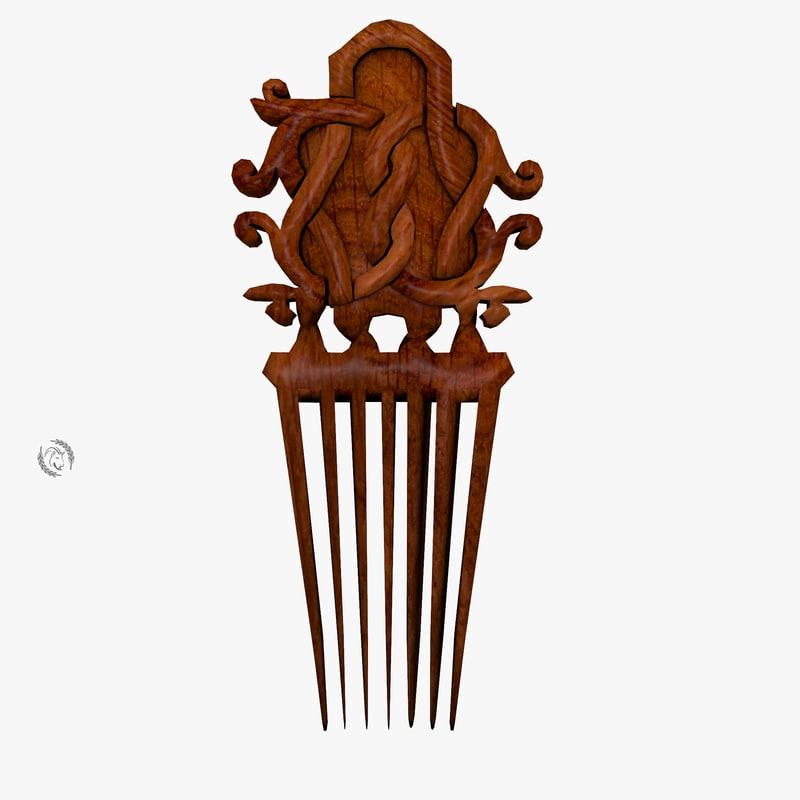 comb ornamental 3D