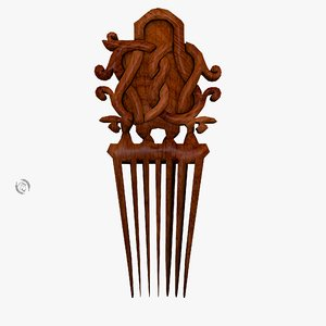 comb ornamental 3D