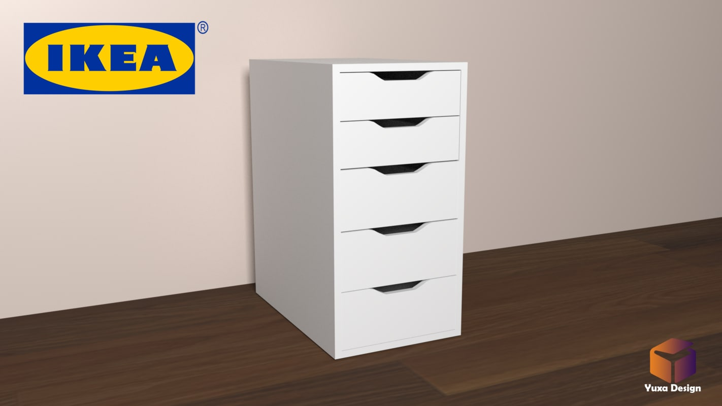 Ikea Drawer Unit 3d Model