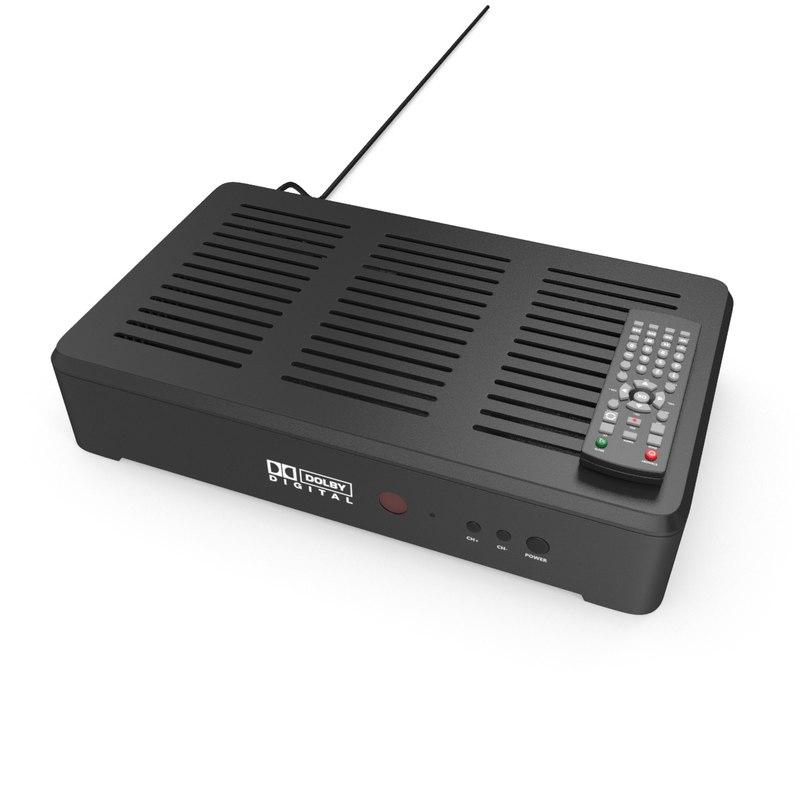 3D hdtv receiver remote control