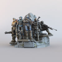 Halo Reach Legendary Statue