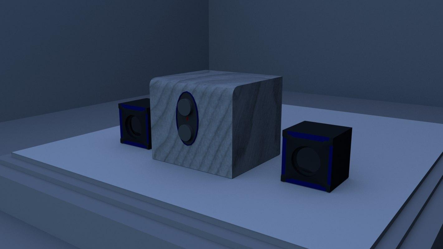 stereo speaker 3D model