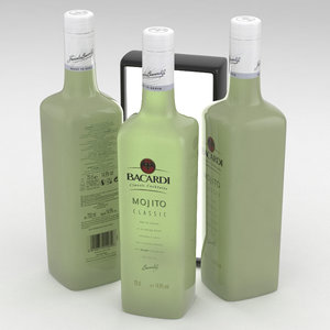 3D alcohol bottle bacardi 700ml