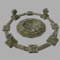 temple stone model