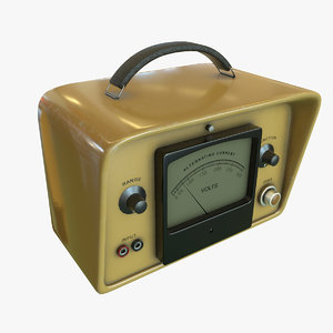 3D model voltmeter ready pbr