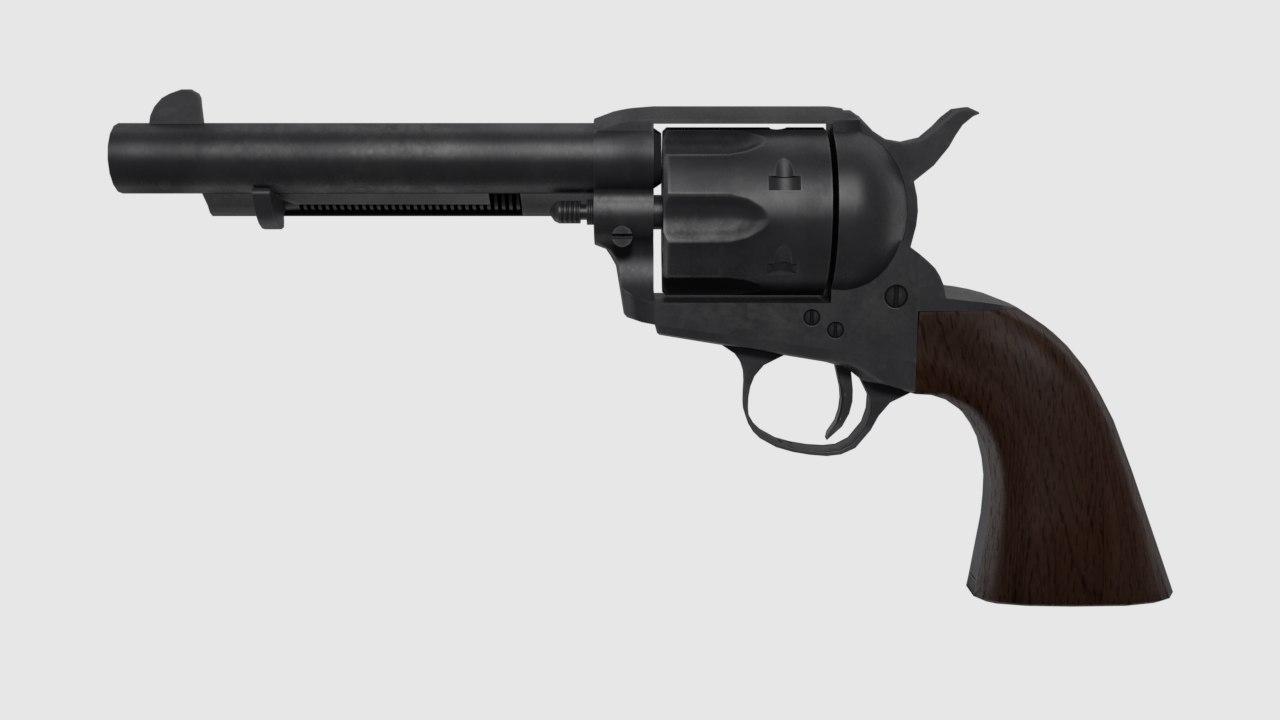 3D 45 caliber revolver
