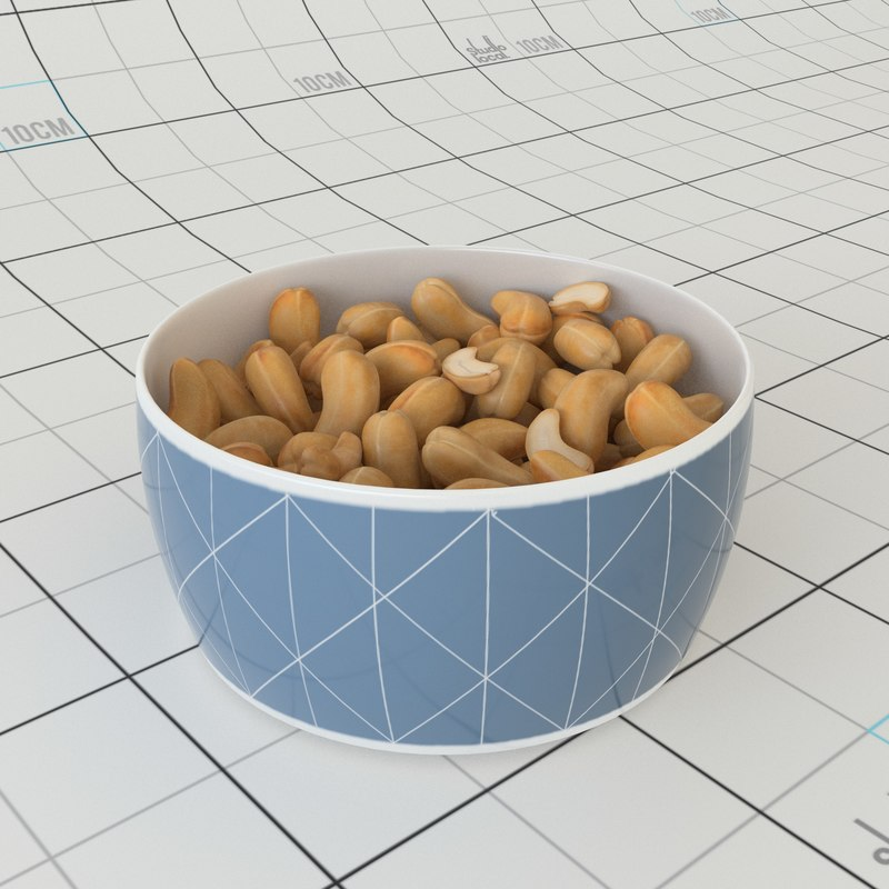 3D cashew bowl model