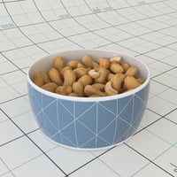 3D cashew bowl model