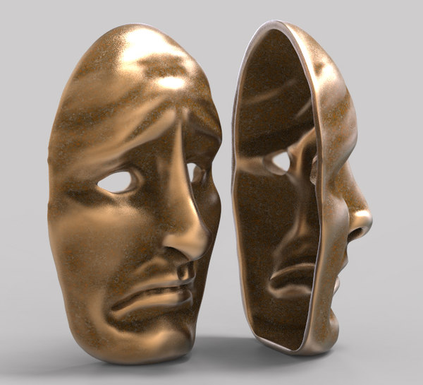 3D model facemask sad mask