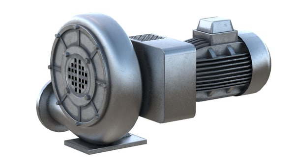 3D industrial fan model