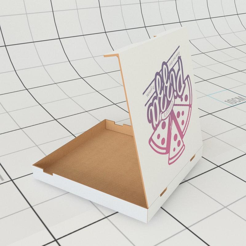 pizza box 3D