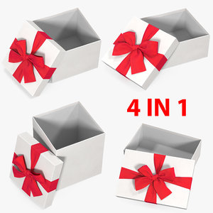 3D gift boxes open