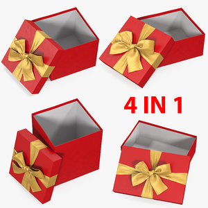 gift boxes open 2 3D model