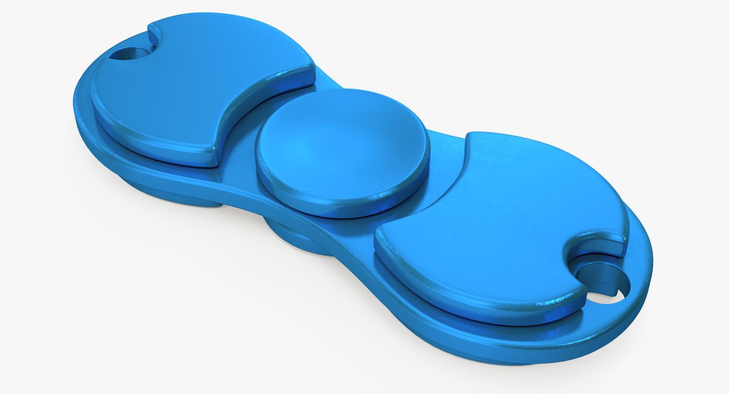 fidget toy hand spinner 3D