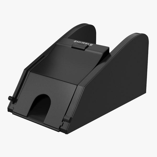 3D model card shuffler blackjack dealer