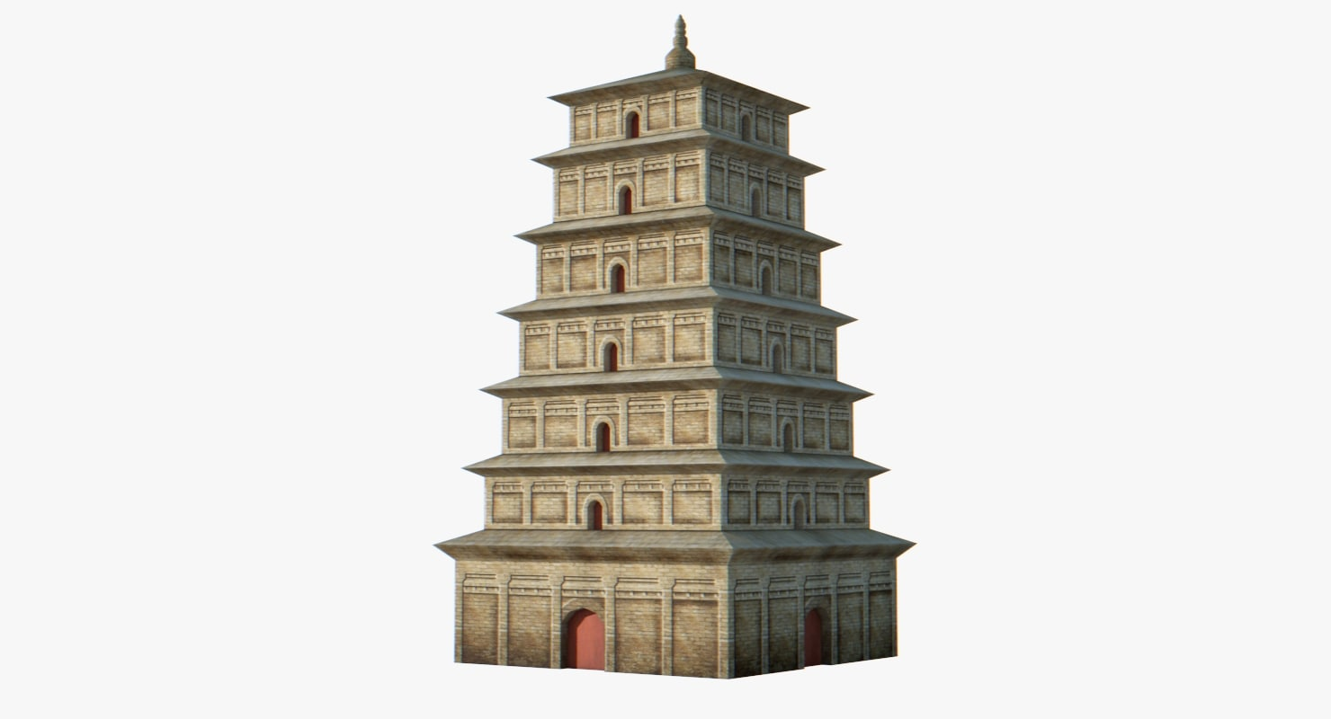 3D chinese architectural ancient model