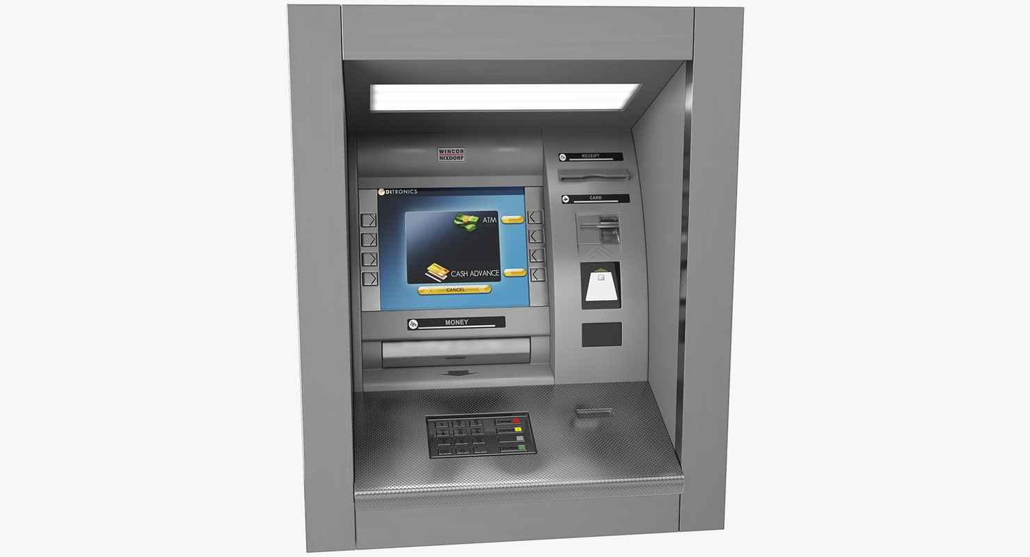 atm machine wall mounted 3D model