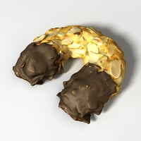 almond croissant 3D model