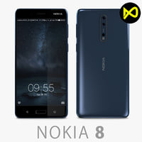3D nokia 8 polished