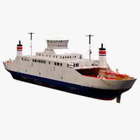 3D car ferry lp model