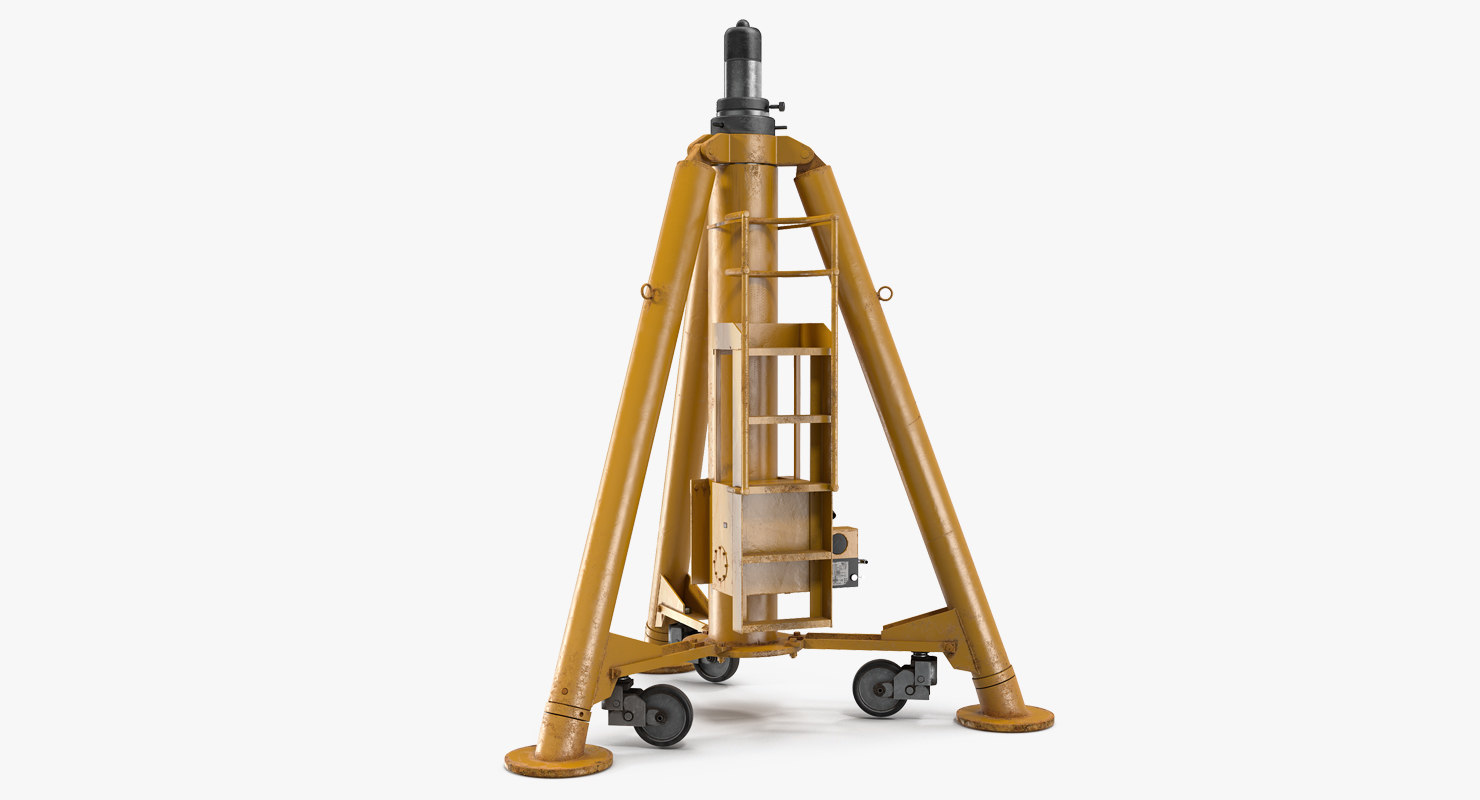 aircraft tripod jack 3D model