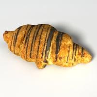 choco croissant 3D