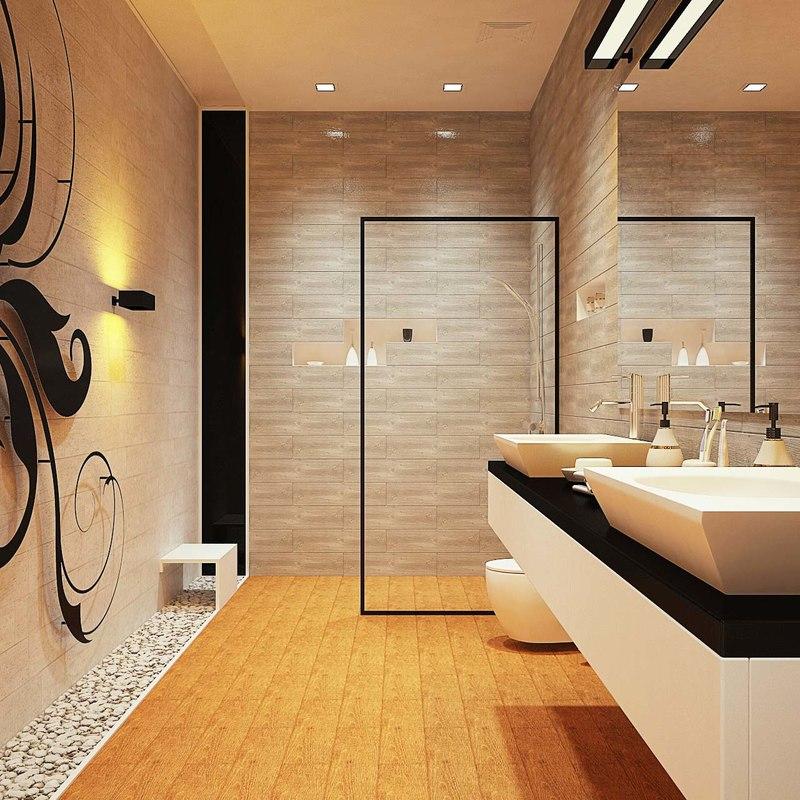 bathroom modern bath 3D model