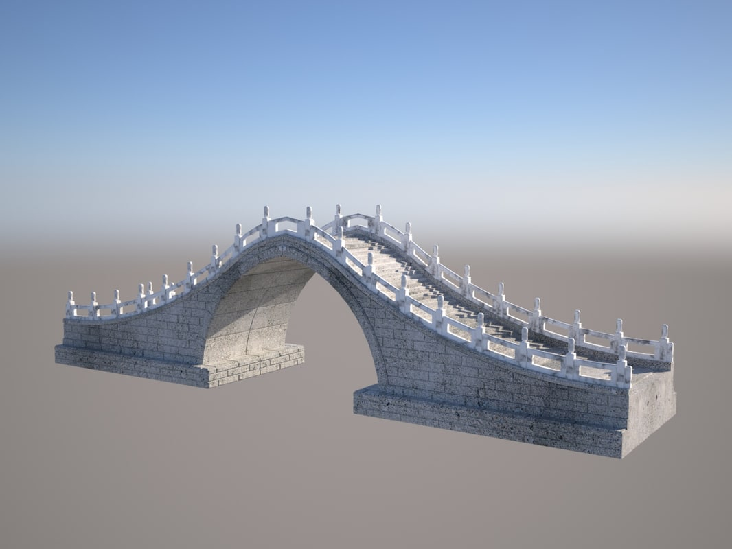 3D traditional chinese moon bridge