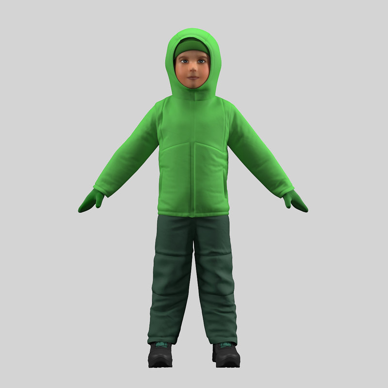 3D model realistic boy clothes