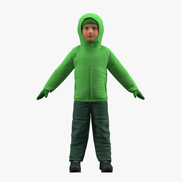 3D model realistic boy clothes