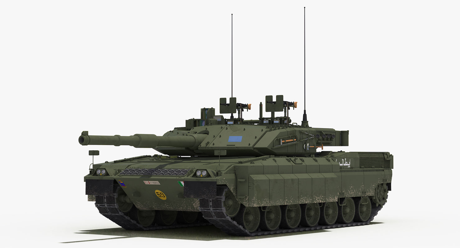 c1 ariete reactive armour 3D model