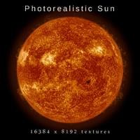 Photorealistic Sun 16k textures
