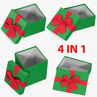 gift boxes open 3 3D model