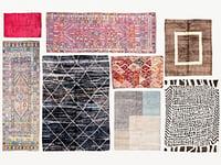 3D old vintage carpets moroccan