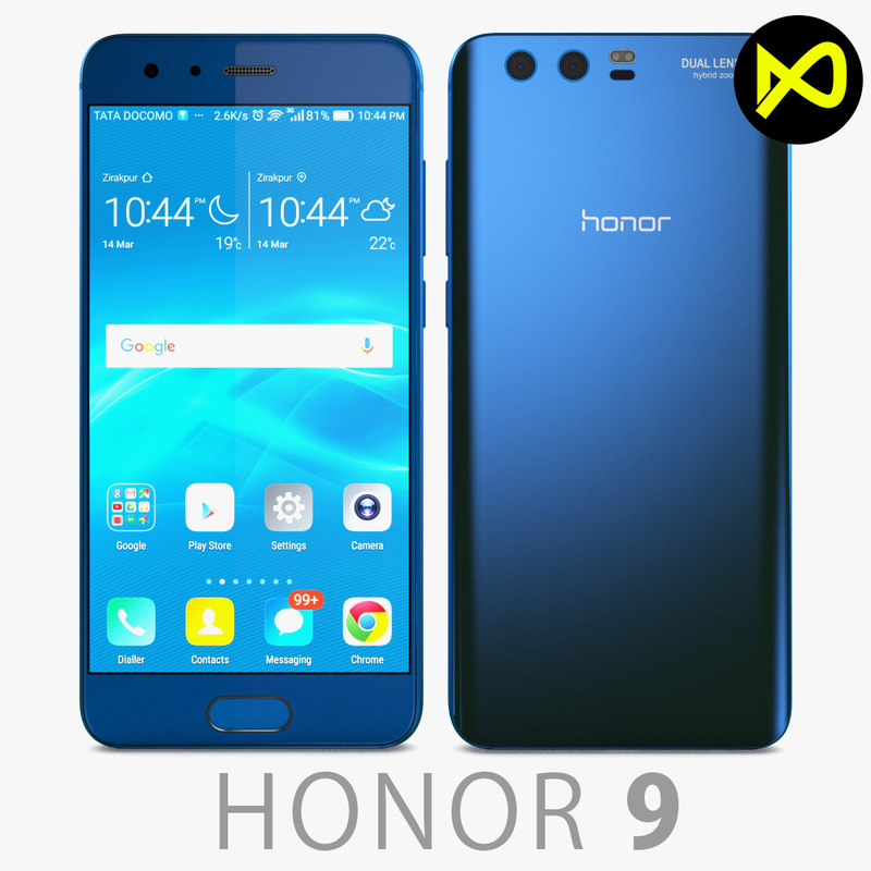 3D model huawei honor 9