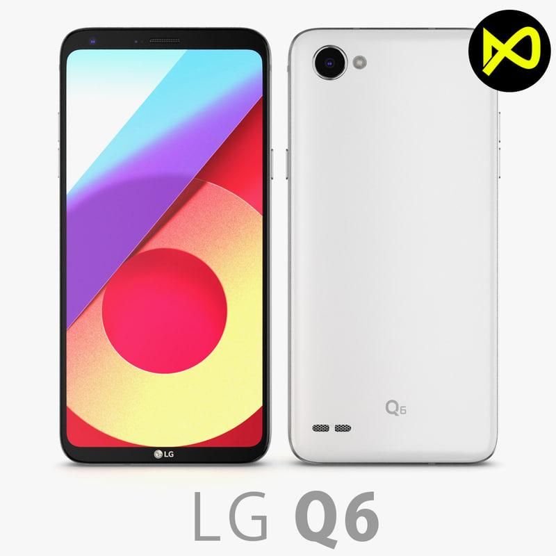 lg q6 white 3D