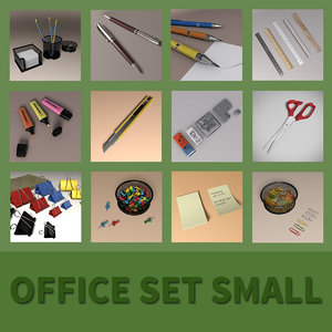 office set small 3D model