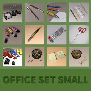 office set small 3D model