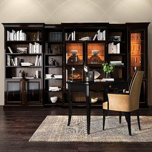 3D selva bookcase model