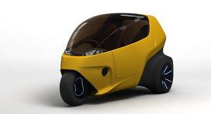 bemo three-wheeler concept 3D