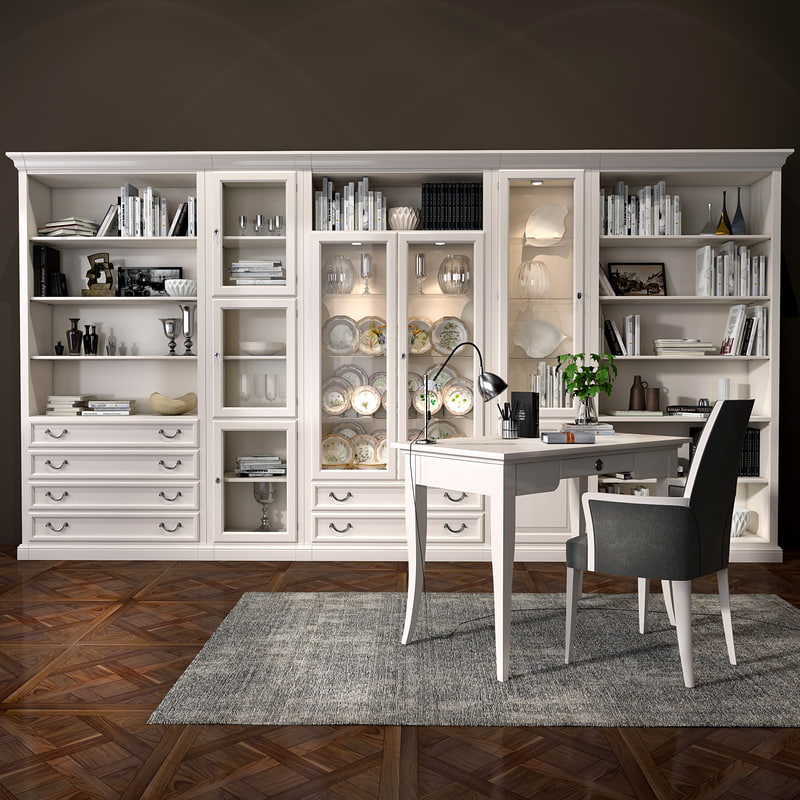 3D selva bookcase