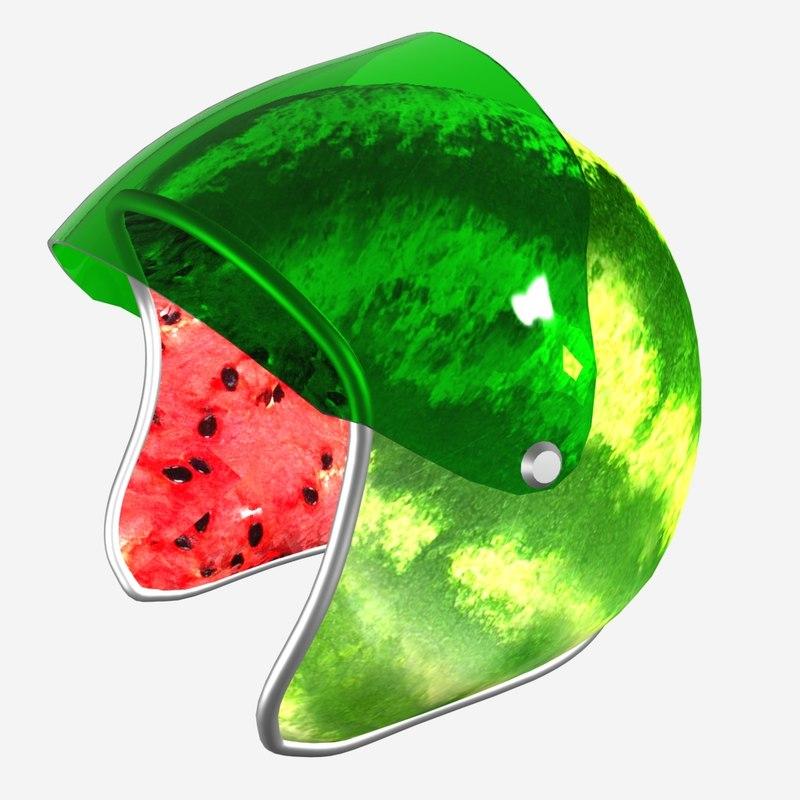 3D watermelon helmet