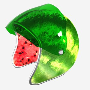 3D watermelon helmet