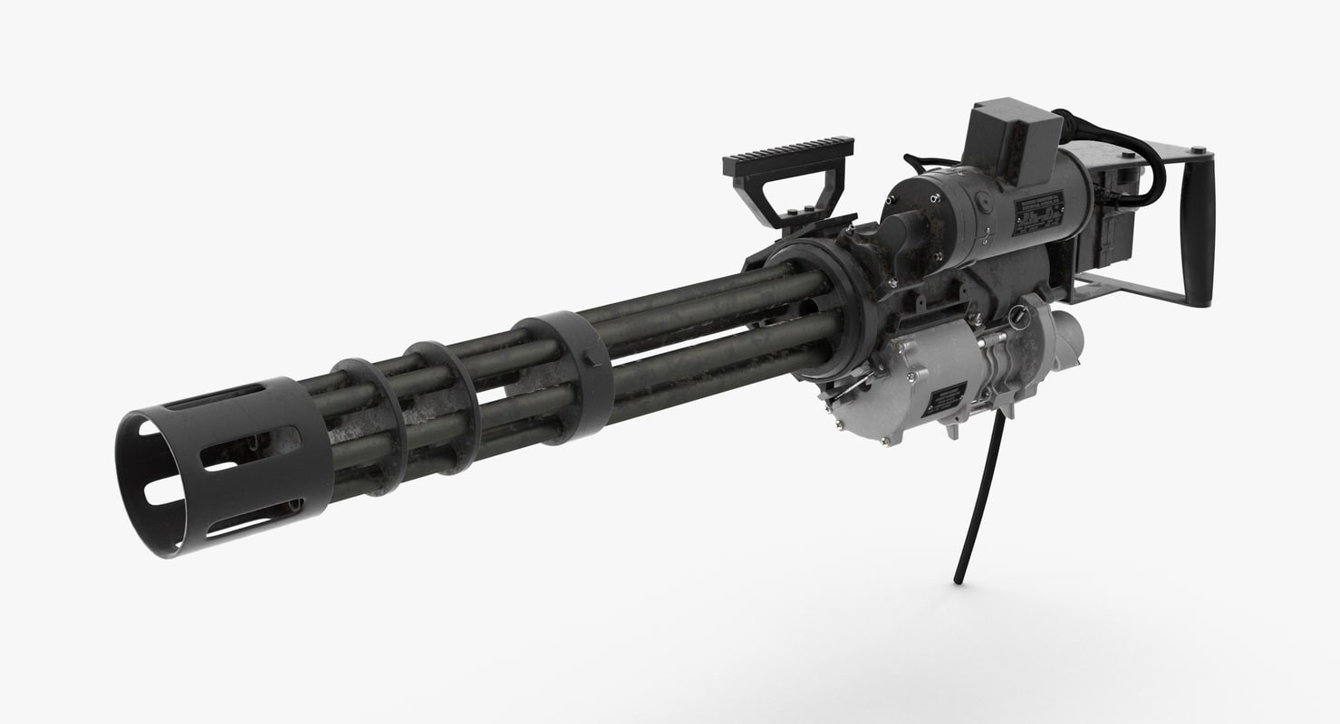 m134 minigun dirt 3D model