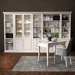 selva bookcase 3D model