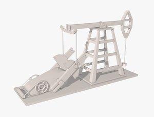oil pump jack 3D
