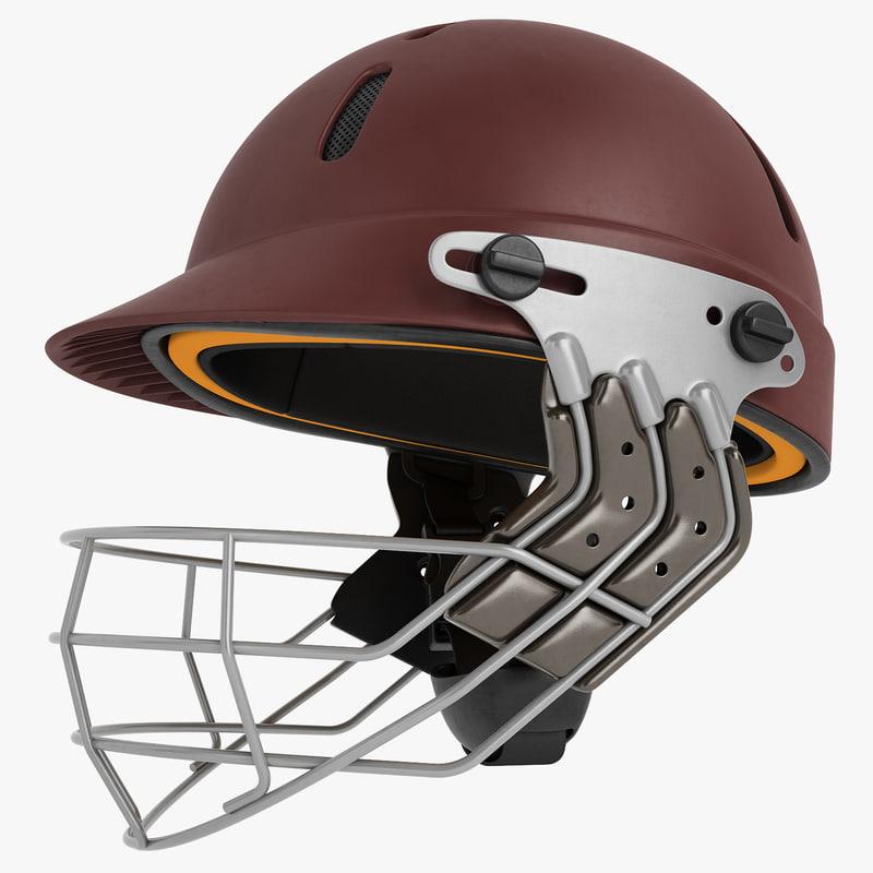 3D cricket helmet